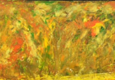 The Mountain with Flowers-40x70-Oil on Canvas