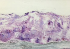 Violet Mountains-40x70-Oil on Canvas