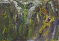 Something on The Mountain-70x100-Oil on Canvas