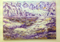 Purple Mountains-130x180-Oil on Canvas