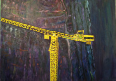 The Crane-150x200-Oil on Canvas